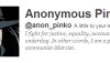 Hmm…Is Wells Fargo on Anonymous Group Wish List?