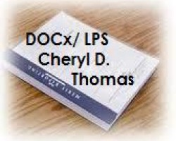 Deposition Transcript of DOCx, LPS CHERYL DENISE THOMAS