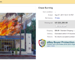 "California Artist Sells ""Chase Burning"" Painting for Whopping $25,200 on EbAY!"
