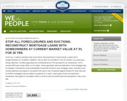 WHITE HOUSE PETITION – STOP ALL FORECLOSURES AND EVICTIONS