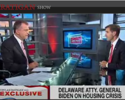 DE AG Beau Biden Speaks To Dylan Ratigan on State Foreclosure Settlement $$ Raid, Indictments, DOCX, Linda Green, Banks still unsure who owns what