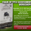 "CHAIN OF TITLE ASSESSMENTS THREE-DAY ""COTA"" WORKSHOP SAN JOSE, CA"