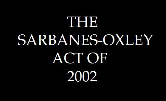 sabanes oxley act of 2002 Summary of hr3763 - 107th congress (2001-2002): sarbanes-oxley act of 2002.