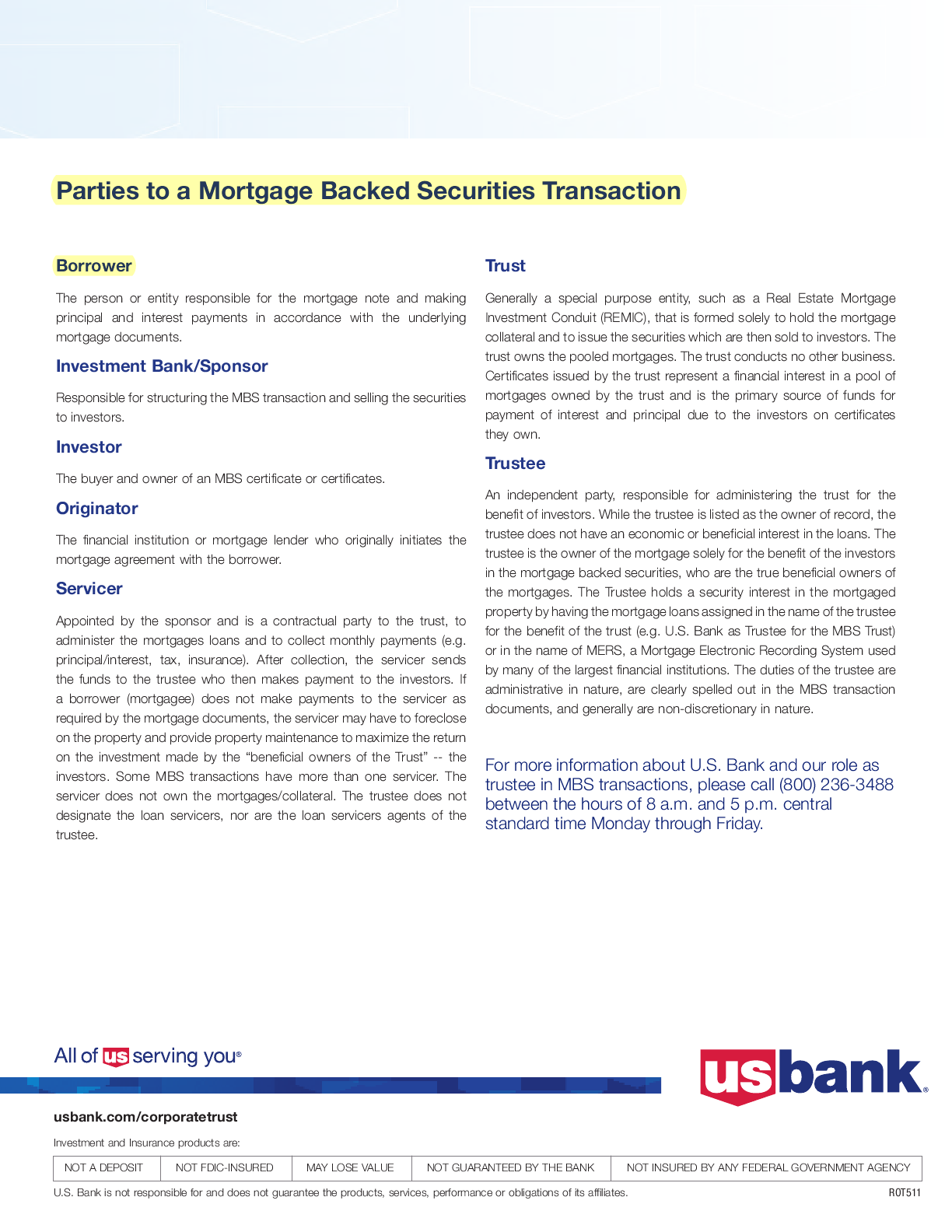 the role of securitization in bank The impacts of securitization on us bank holding companies by  positive role this suggests that the current turmoil in mortgage credit and securitization markets.