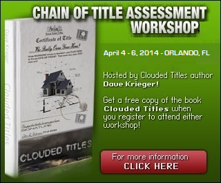 Clouded Titles by Dave Krieger Seminar Workshop