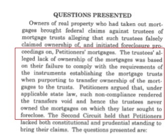 Anh N. Tran, et al. v. Bank of New York Certiorari QUESTION PRESENTED red line